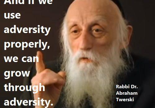 Rabbi Dr. Abraham over stress, en hoe dat om te denken.